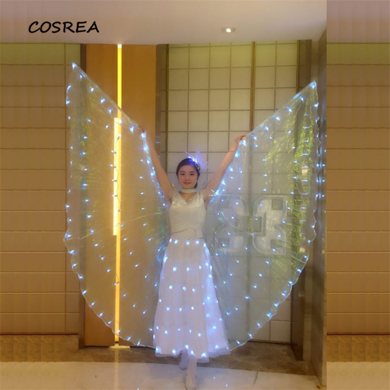 Children Adult Led  Wings Belly Dance Accessories Kids Woman  Led Wings Stage Performance Props Shining Led Wings 360 Angle