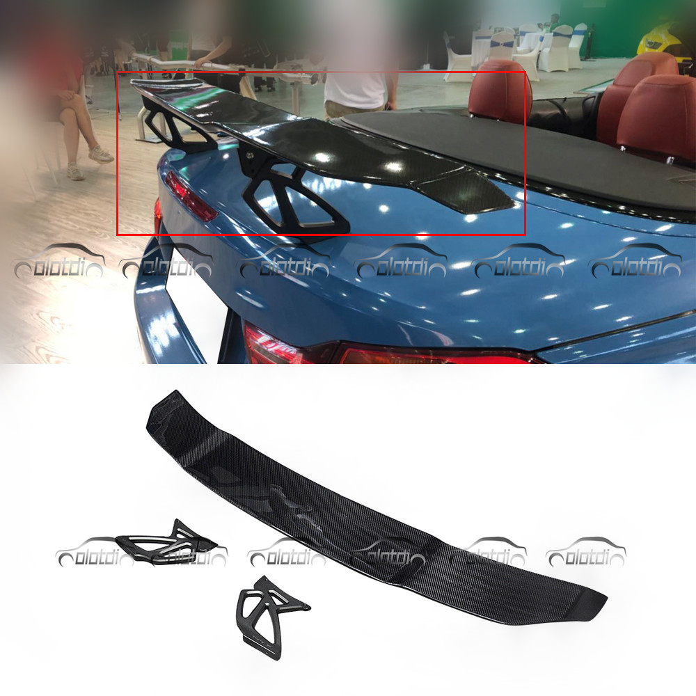 V Style fibre de Carbone GT Spoiler Arrière Tronc Aile pour Mercedes Benz C63 CLA45 Berline pour BMW F80 F82 F87 m2 M3 M4