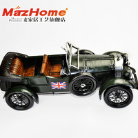 The new Union Jack Army manual green sports car models to do the old retro bar window Road Home accessories Decoration