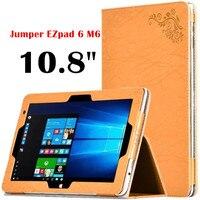 Kwiatowy Print PU Skórzane etui Z Klapką Pokrywa dla EZpad Jumper 6 M6 tablet PC 10.8 ''case Stań PU Skórzane Etui ochronne powłoki