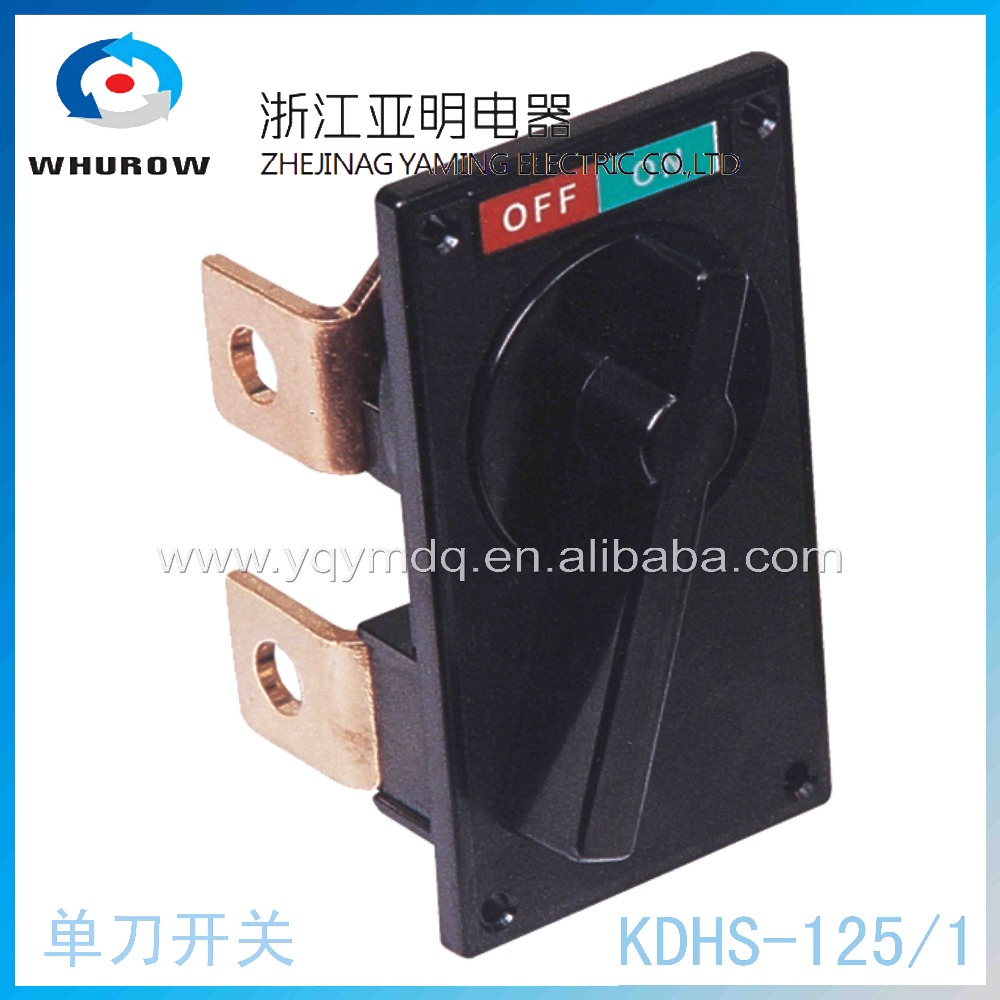Knife switch breaker KDHS-125/1 rotary switch 2 position off-on 125A 2 pin copper connection universal switch