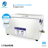 Skymen Digital 22L 480W Ultrasonic Cleaner Heated Timer Stainless Steel Bath Solution Ultra Sonic Cleaning Device