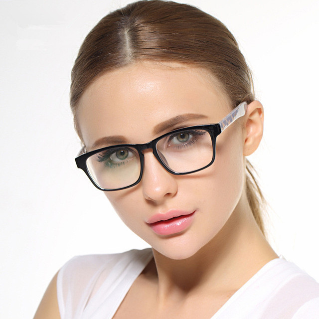 2332abda83a Big Frame Black Glasses Stylish Eyewear Women and Men Eyeglasses Myopia  Spectacle Student Fashion Prescription Glasses Frame-in Eyewear Frames from  ...