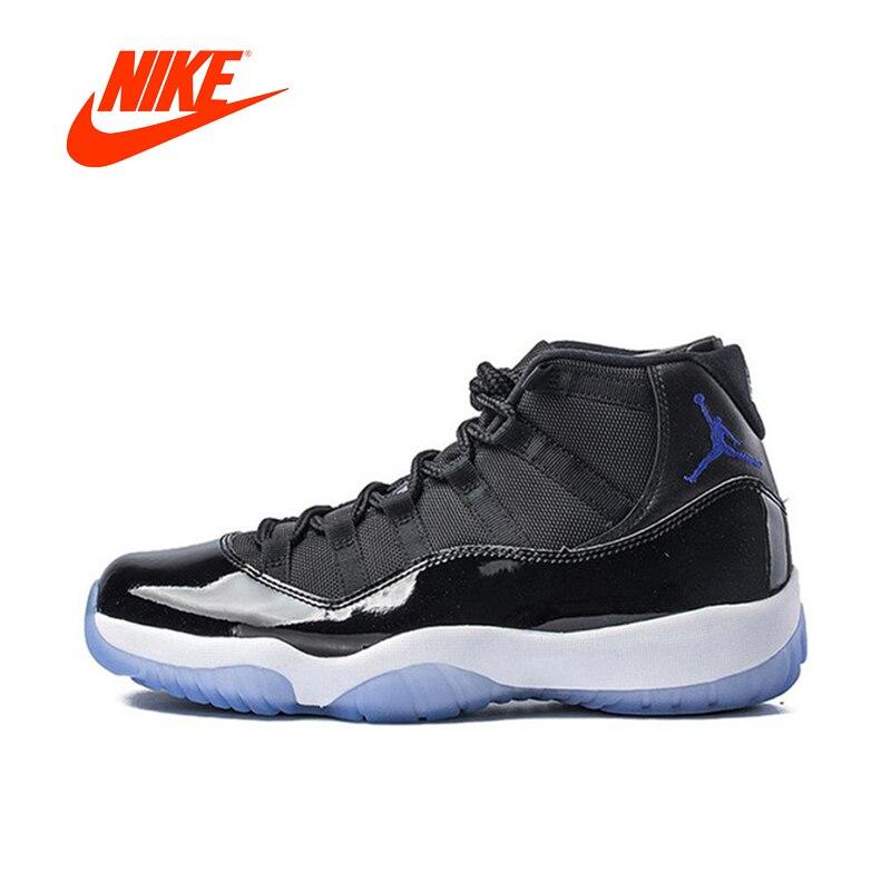 Оригинальный Новое поступление Аутентичные Nike Air Jordan 11 пространство Варенье дышащая Для мужчин Мужская баскетбольная обувь спортивные кро...