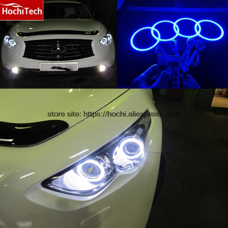 HochiTech RGB Multi-Color LED Angel Eyes Halo Rings kit super brightness car styling for Infiniti FX QX70 FX35 FX37 FX50 2009-13 шлепанцы souls шлепанцы
