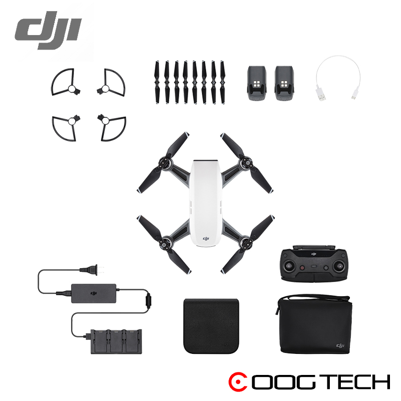 In Stock!!! DJI Spark fly more combo with remote controller  (2pcs battery totally)  FPV Quadcopter RC Helicopter DJI Original easttowest dji spark accessories hard shell dji spark backpack waterproof storage bag for spark body remote all accessories