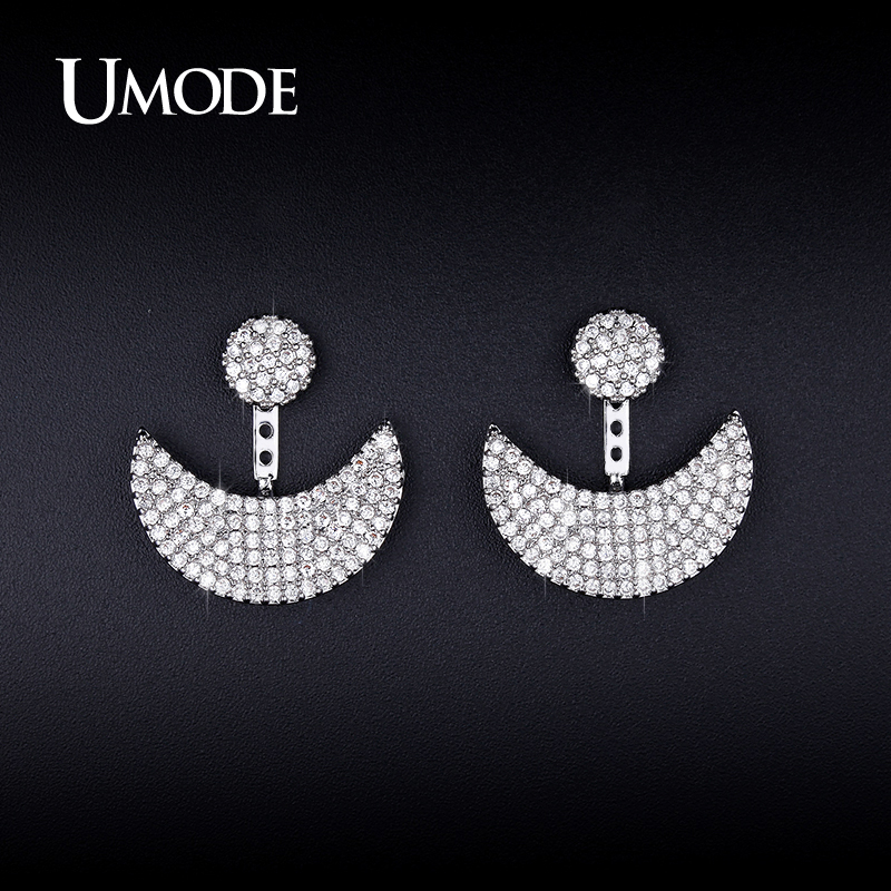 все цены на UMODE New Arrival Earrings Jackets Two Colors Moon And Sun Design Adjustable Earrings For Women Jewelry Boucle D'oreille UE0250