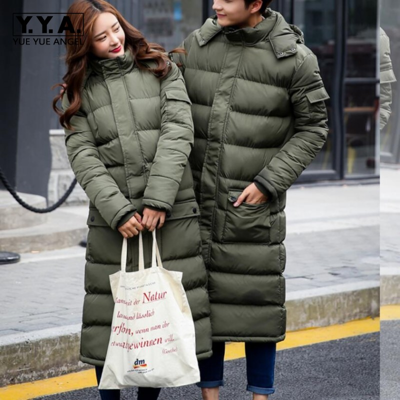 New Mens Warm Long Coats Lady Cotton Warm Jacket Padded Coat Hooded Parkas Coat Winter Top Quality Overcoat Green Black Size 3xl 2017 new fashion women long cotton coats size s 2xl hooded collar warm parkas winter black navy green color woman parkas qh0449