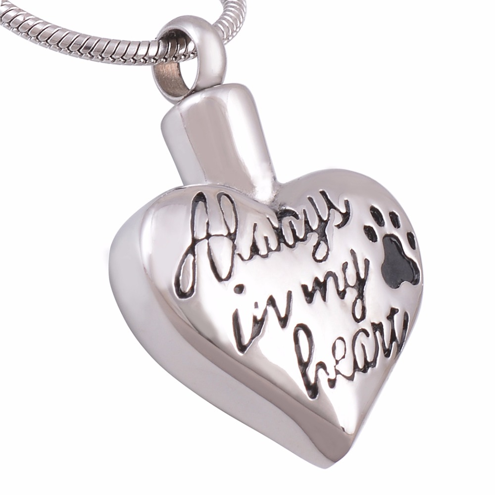 Pet Cremation Necklace Engraved Stainless Steel Jewelry
