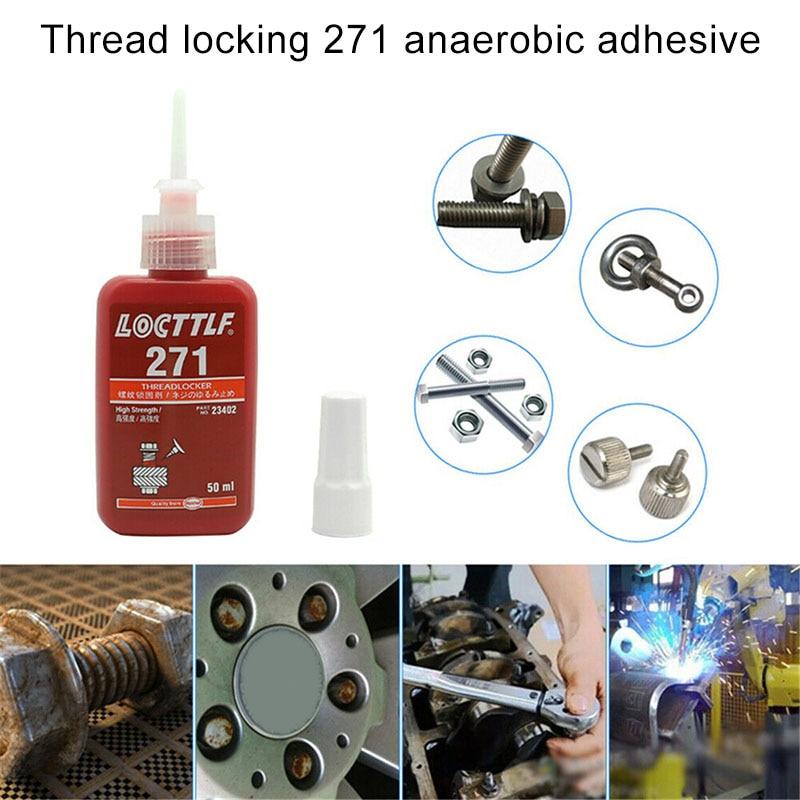 Newest 1 Pcs 271 High Strength Threadlocker Anaerobic Adhesive Glue Thread Locker|Sealers| |  - title=