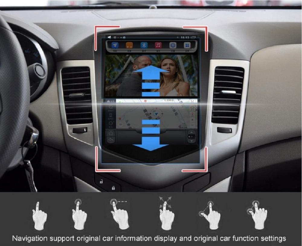 Perfect Navirider Android 7.1 radio tape recorder 4-Core 2GB RAM 32GB rom tesla vertical screen for Toyota  Land cruiser 2012 head units 7