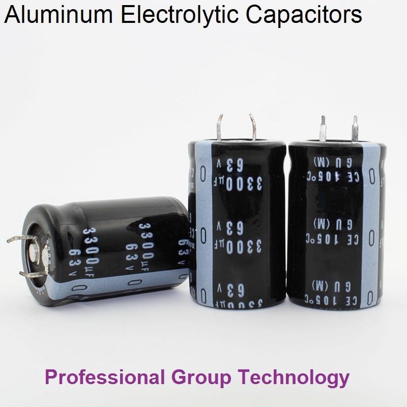 1pcs EC511 Good Quality 63v3300uf Radial DIP Aluminum Electrolytic Capacitors 63v 3300uf Tolerance 20% Size 22x30MM 20%