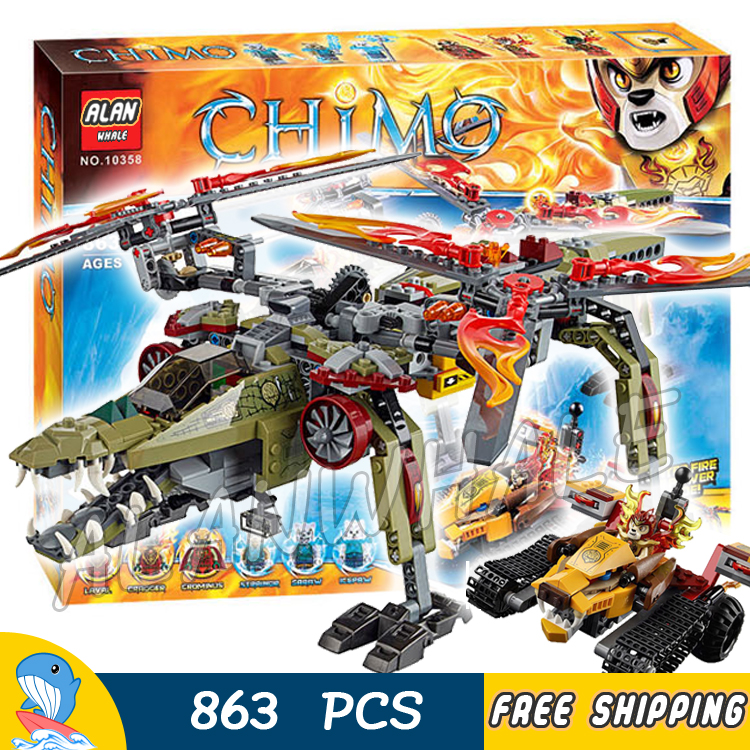 863pcs King Crominus Rescue Golden Lion 10358 Model Building Blocks Sets Kits Amazing Movie Toys Bricks Compatible with Lego smith w golden lion