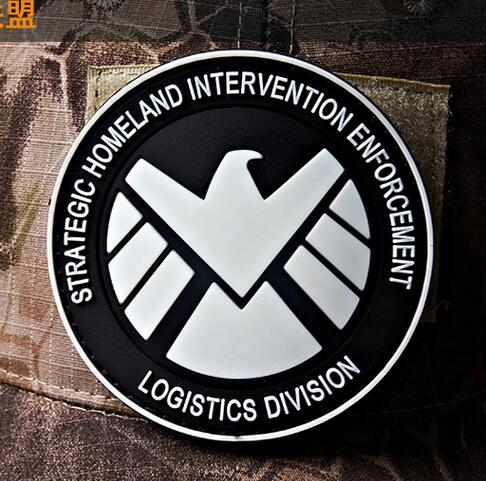 strategic homeland intervention enforcement patch 3D Rubber PVC fluorescent Tactical Emblem Combat Morale Armband Glow In Dark