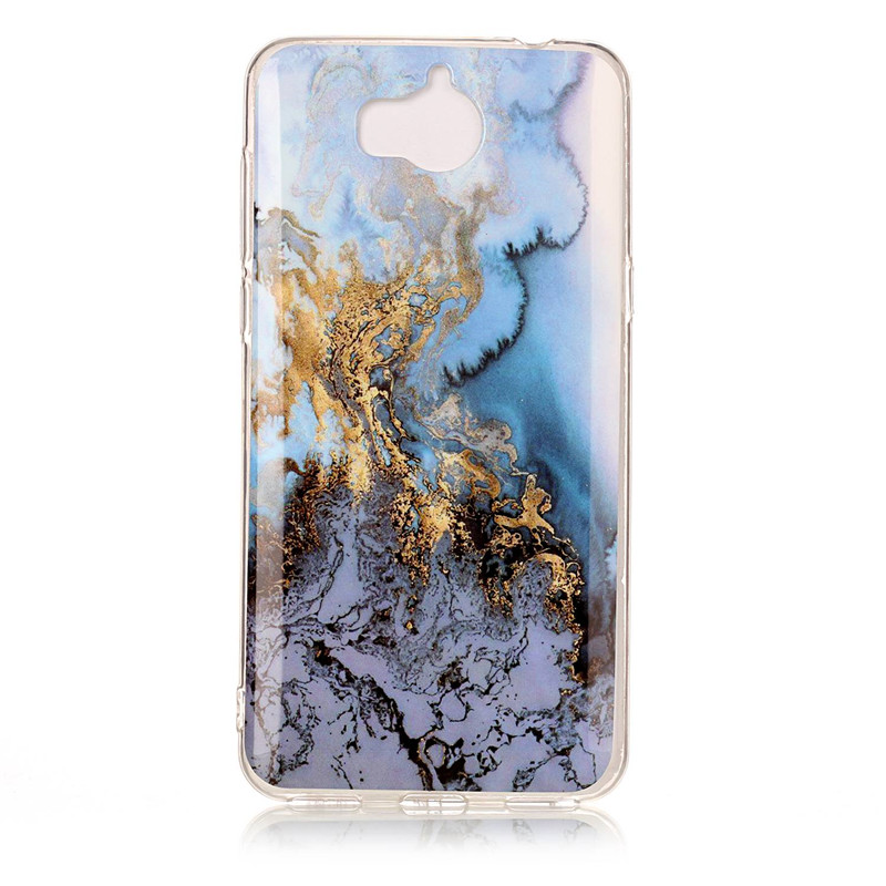 Marble Stone Case Huawei Y5  Case Soft Silicone TPU Rubber Back Cover Phone Huawei Y6  Case
