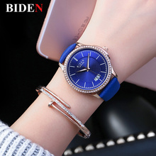 Women Watch BIDEN Fashion Quartz Date Watches Ladies Wrist Watches Diamond Leather Clocks Waterproof  Relogio Feminino  Calendar цена в Москве и Питере