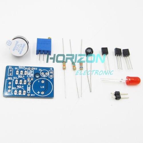 DIY Kit DC 3~5V Electronic Temperature Control Sound Light Alarm Suite Kit
