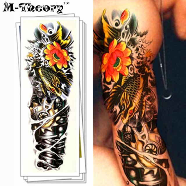M Theory Full Sleeve Makeup Temporary 3d Fake Tattoos Sticker Henna