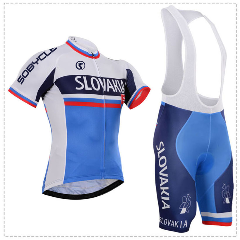 team 2019 SLOVAKIA PRO JERSEY 12D bike shorts set Ropa Ciclismo MENS summer quick dry CYCLING Maillot pants wear