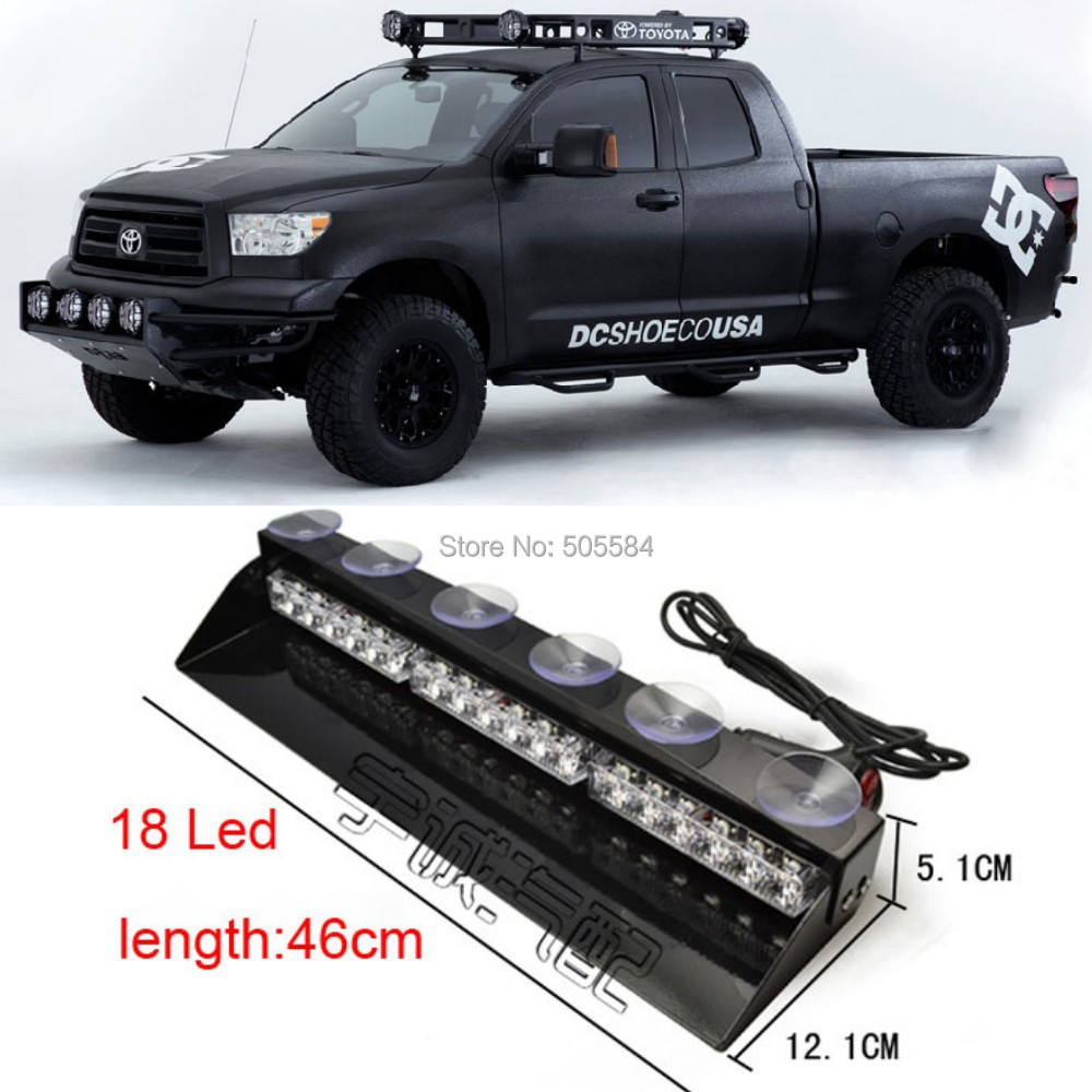 18 white red blue led police fireman car dash light bar ems warning 18 white red blue led police fireman car dash light bar ems warning flash fog light daytime strobe lamp multi flashing patterns in car light assembly from aloadofball Choice Image