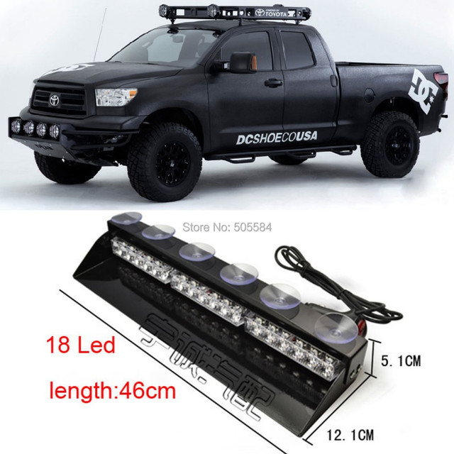 18 white red blue led police fireman car dash light bar ems warning 18 white red blue led police fireman car dash light bar ems warning flash fog aloadofball Image collections