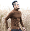 brand Mens Black Wool Turtleneck Sweater Slim Fit Solid Men Knit Cashmere Pullovers And Sweaters For Men 2016 new