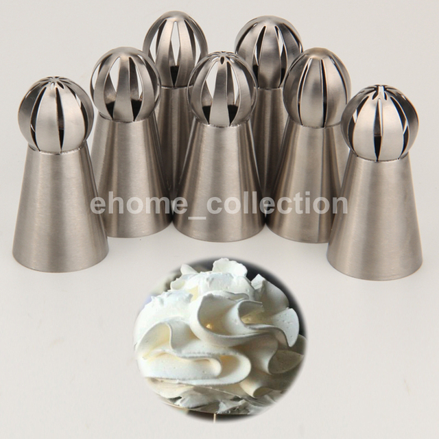 14Pcs Stainless Steel Russian Icing Piping Ball Nozzles