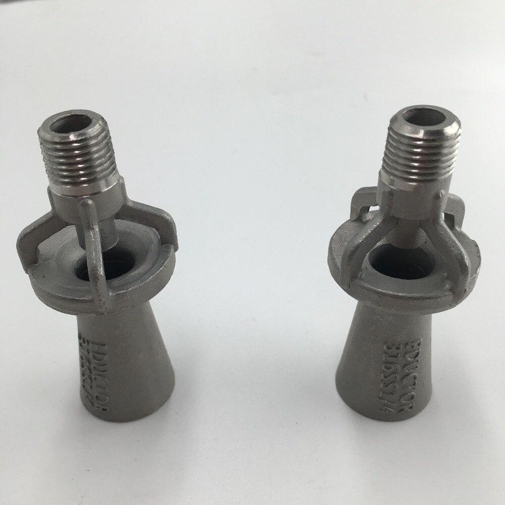 """(12PCS/Lot)1/4"""" 3/8"""" 1/2"""" 3/4"""" 1""""Liquid Mixing Nozzle  Metal SS6316 Tank Mixing Eductors Mixing Fluid Nozzle spray nozzle Sprayers     - title="""