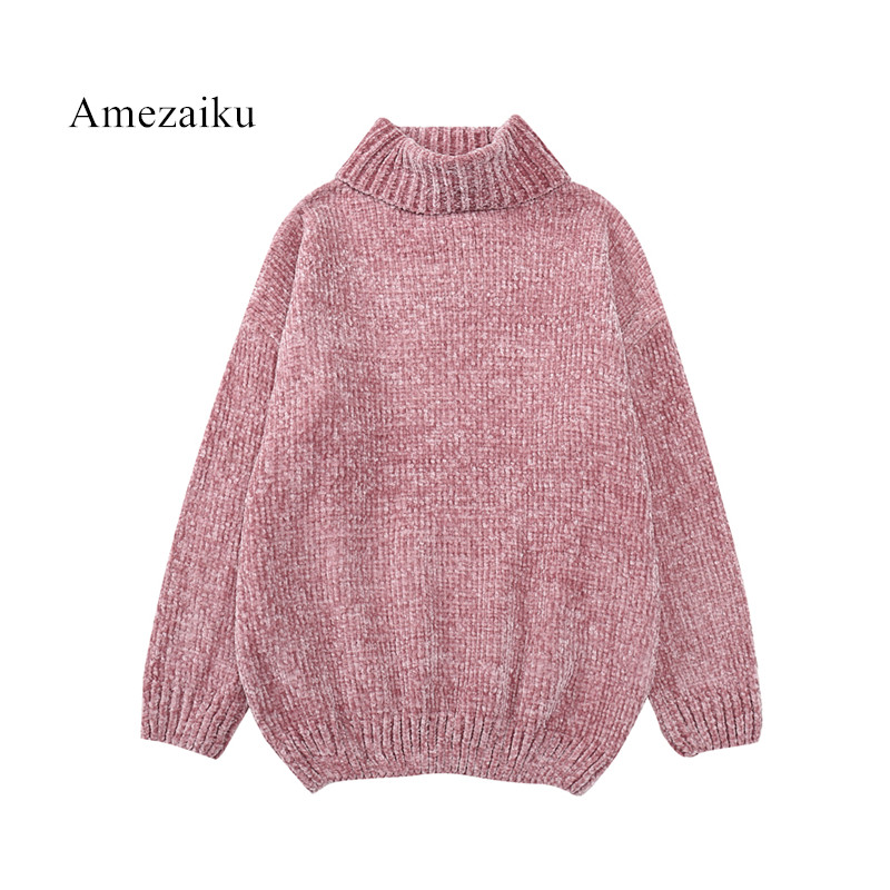 pink Knitted High Quality Cashmere Sweater Women chic Sweater Cachemira Woman auutmn Winter velvet Sweaters Pullover