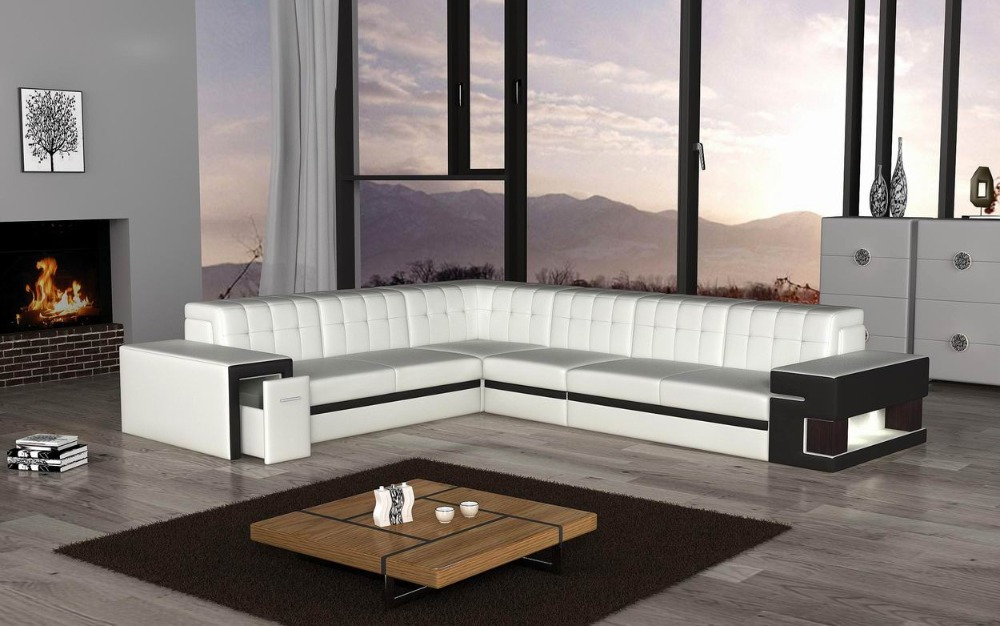 Kagera Furniture Wholesale Corner Sofa F108 L Shape Sofa Ottoman Leather  Sofasetting Room Sofa With Light Designin Living Room Sofas From Furniture  On