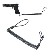 New Tactical Rifle sling Pistol Hand Gun Secure Spring Lanyard Sling with Belt Outdoor Combat Gear Black(China)