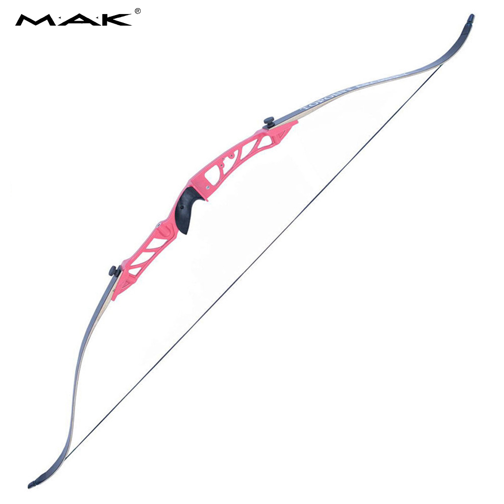 7 Colors 68 Inches Recurve Bow 18-38 Lbs Aluminum Alloy Bow Handle Black Limbs for Outdoor Archery Hunting Shooting fotomate g 01 aluminum alloy mini handle for camera dlsr black