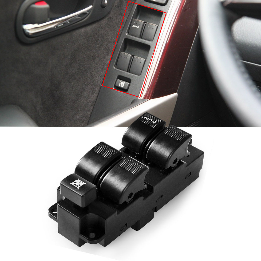 Dwcx gg2a66350 power window master switch left hand driver side fit for mazda 626 mpv 2001
