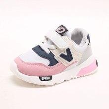 2018 Fantasztikus sport hűvös baba cipők Tavasz / Őszi Hook & Loop divat lányok fiúk kisgyermekek Patchwork aranyos baba alkalmi cipő