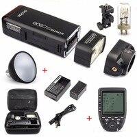 Godox AD200 200Ws 2,4G ttl со стробоскопической вспышкой 1/8000 HSS Беспроводная голая лампочка/Speedlite вспышка для Canon Nikon Dslr Камера с X1T