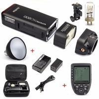Godox AD200 200Ws 2.4G TTL Flash Strobe 1/8000 HSS Cordless Bare Bulb/Speedlite Speedlight For Canon Nikon Dslr Camera With X1T