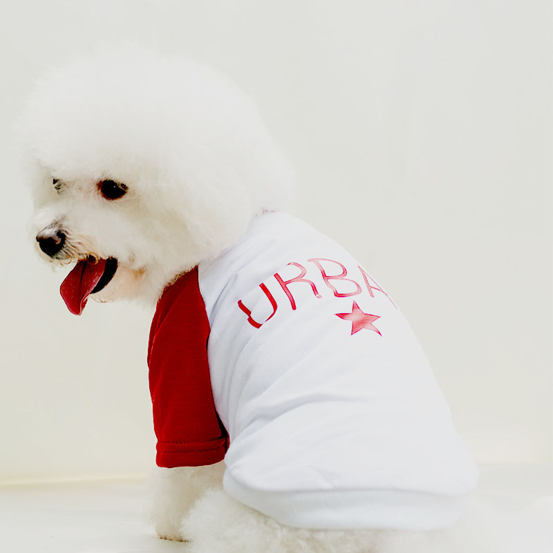 41049eef41 Summer Color Matching Pet Dog Cat T-Shirt Clothes Soft Cool Cotton Blend Puppy  Dog Vest for Small Medium Dogs 3 Colors 910E
