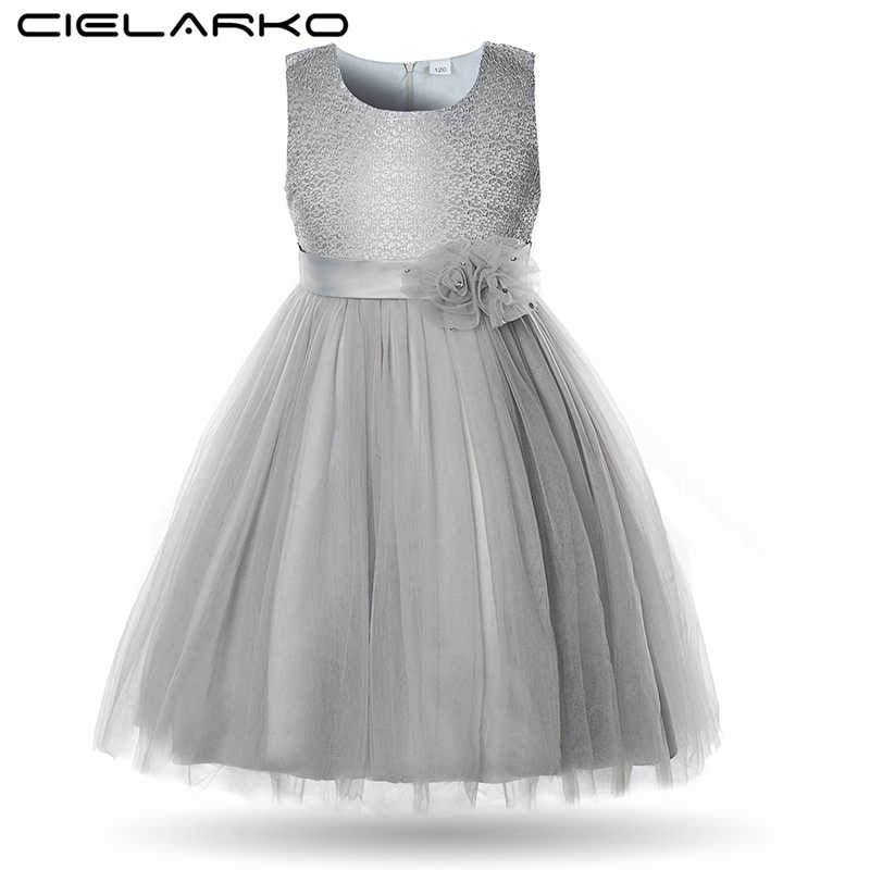 Cielarko Elegant Flower Girls Dress Lace Children Wedding