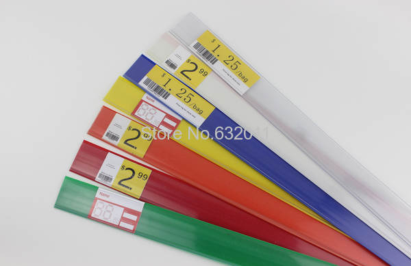 Plastic adhesive label strips