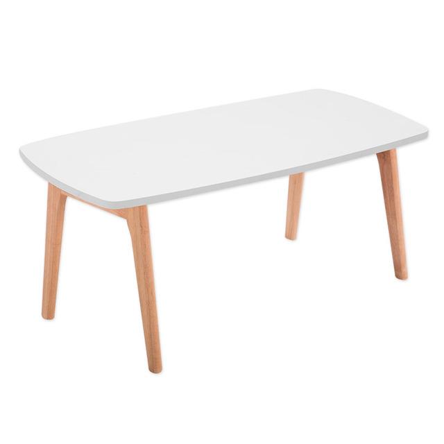 Piernas Mesa De Centro Plegable Para Muebles de Sala 2 Colores Rectángulo Pequeño Sofá Centro Lateral de Madera Mesa Plegable De Madera de Diseño