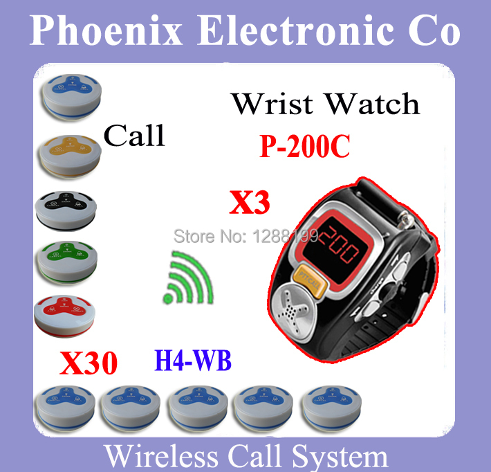 Wrist Watch Pager Coffee House call bell system Restaurant Coffee Bar Wireless Call Calling System Waiter Service Paging System restaurant pager watch wireless call buzzer system work with 3 pcs wrist watch and 25pcs waitress bell button p h4