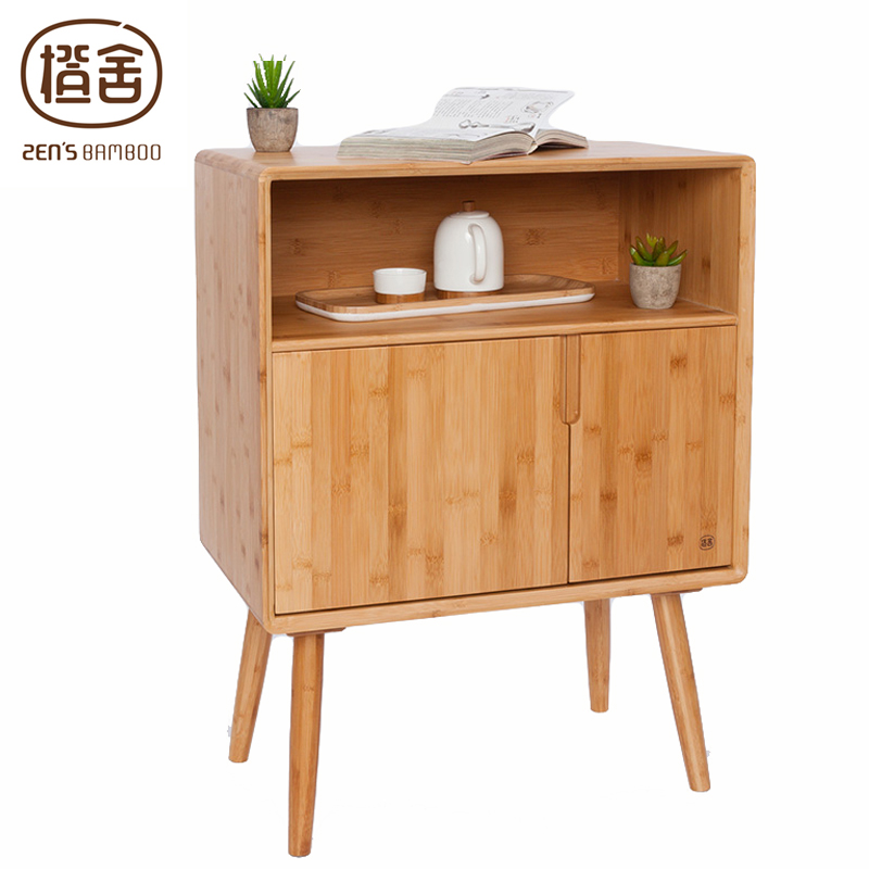 ZEN'S BAMBOO Cabinet Sideboard Assemble Living Room Cabinet Storage Nightside Home Furniture 0601 living room furniture wine cabinet display showcase wine cooler living room cover cabinet between cabinet office