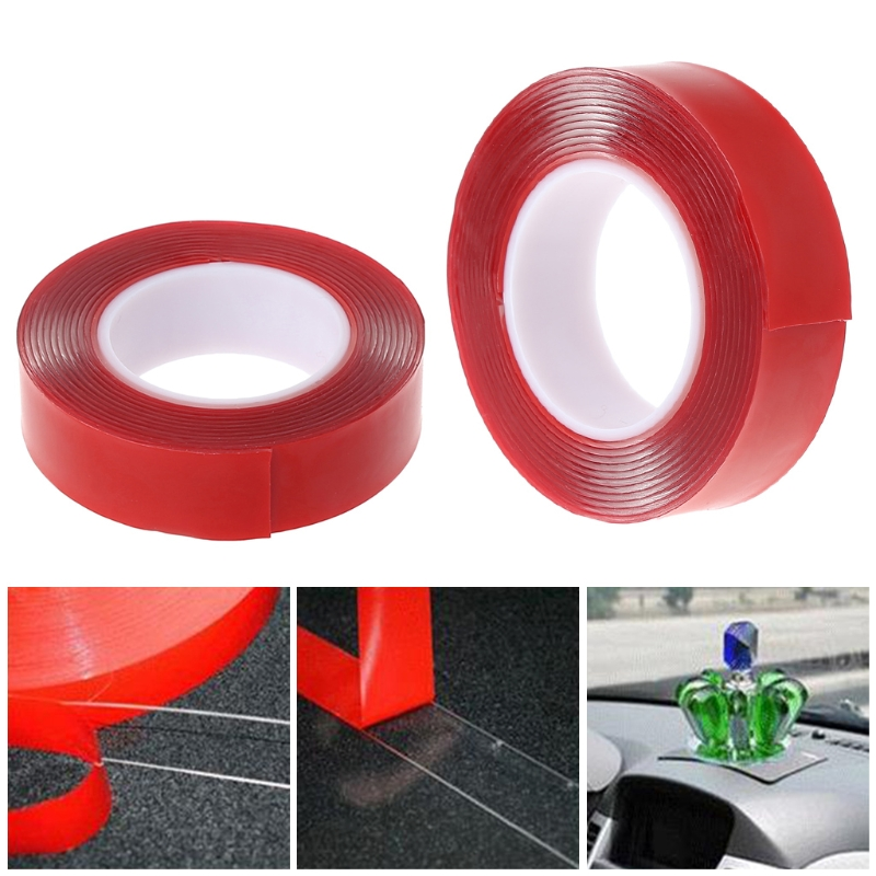 3m Red Double Sided Adhesive Tape High Strength Acrylic Gel Transparent No Traces Sticker for Car Auto Interior Fixed цена