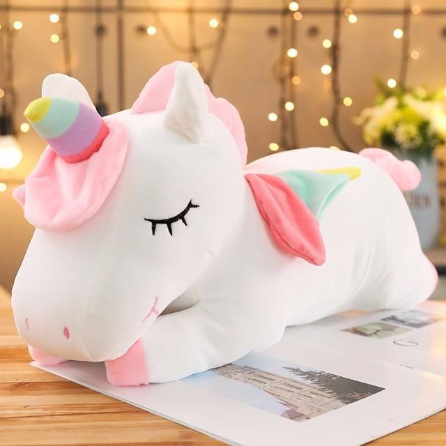Kawaii Giant Unicorn Plush Toy Soft Stuffed Unicorn Soft Dolls 20-80cm Animal Horse Toys For Children Girl Pillow Birthday Gifts 4