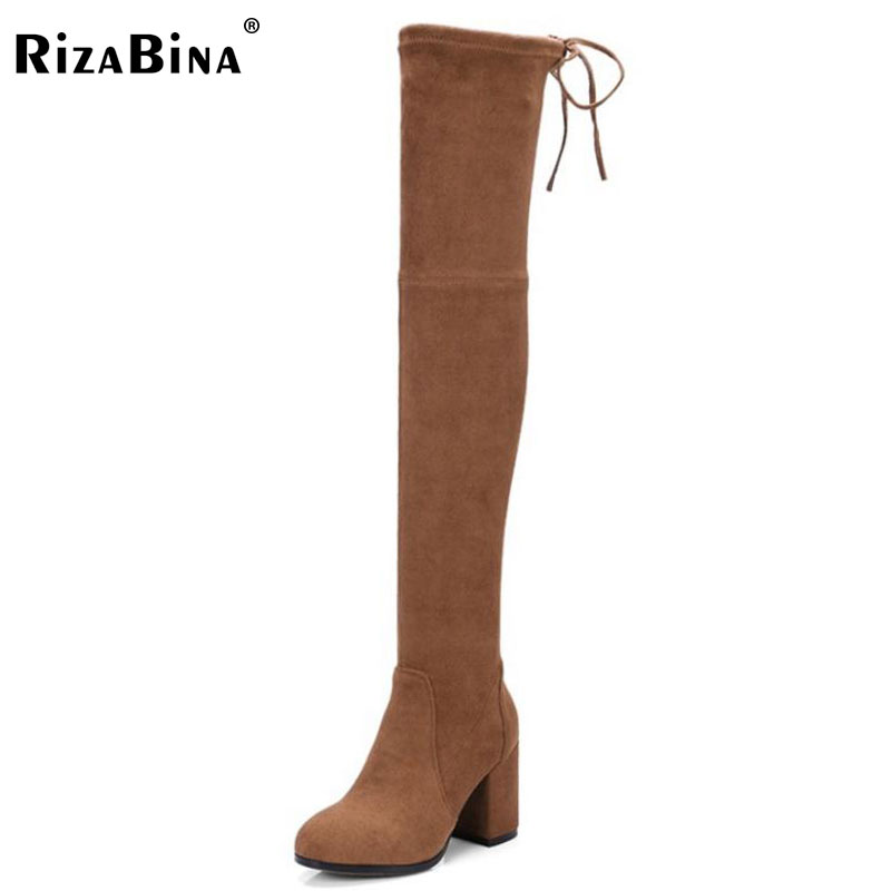 RizaBina Fashion Winter Shoes Women Real Leather Med Heel Knee High Winter Boots For Women Tassels Zipper Plush Botas Size 34-39 woman real leather boots 2015 new winter boots black apricot zipper fashion martin boots 34 39 comfortable women knee high boots
