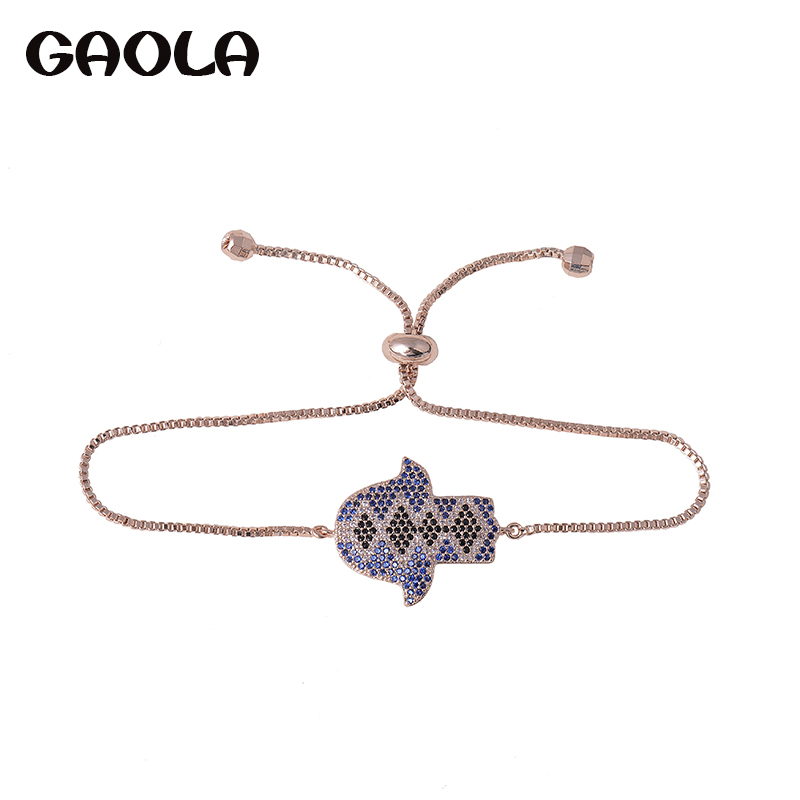 GAOLA 2017 Fancy Big AAA CZ Crystal Fish Shape Bracelets & Bangles for Party Gift GLS0674