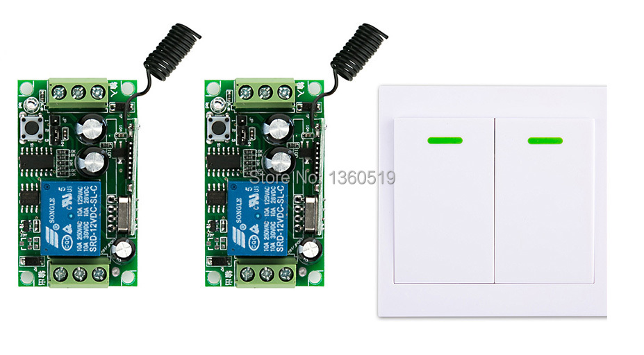 digital Remote Control Switch DC12V 2* Receiver Wall Transmitter Wireless Power 315MHZ Radio Controlled Relay