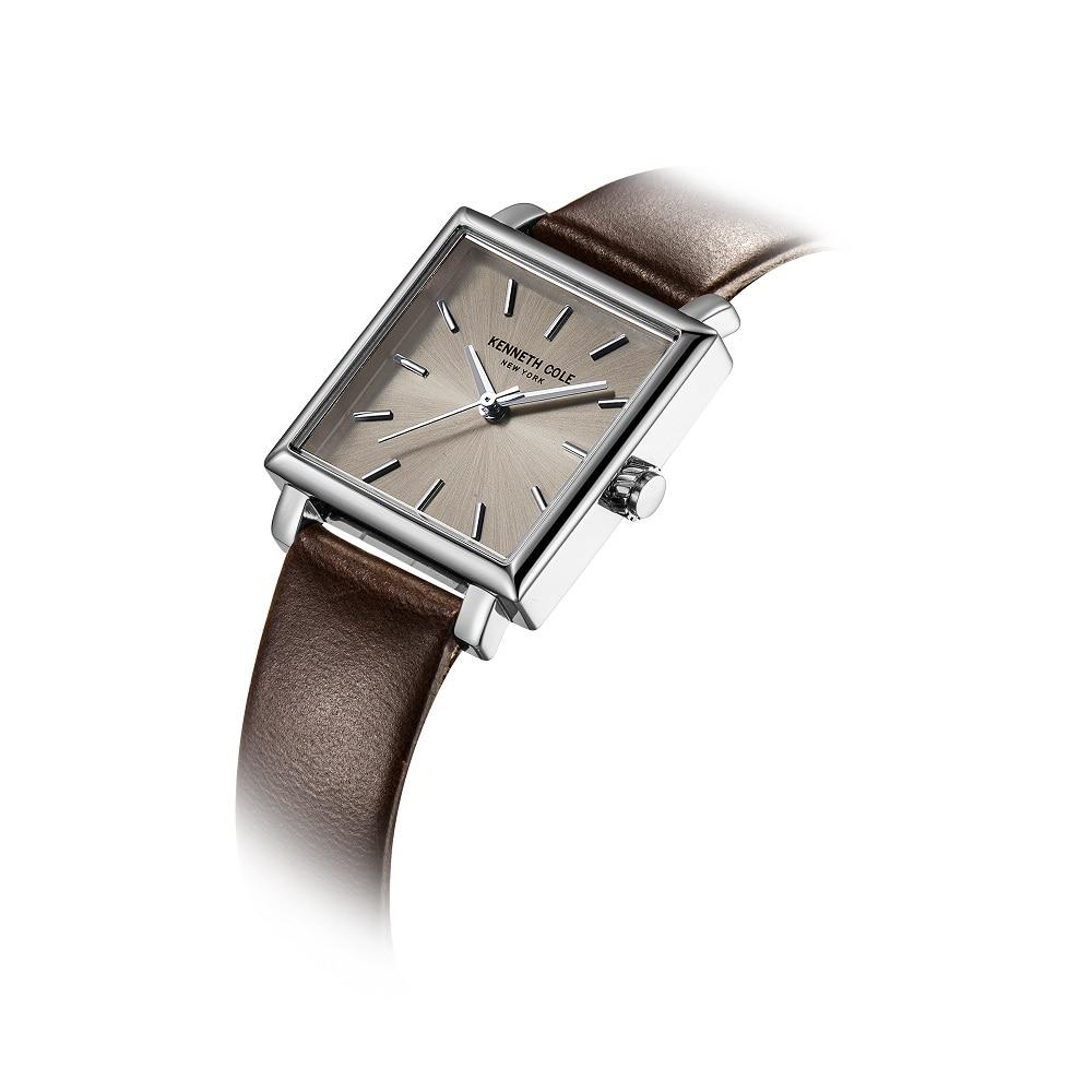 Kenneth Cole Oryginalne damskie zegarki Kwarcowe kwadratowe brązowe - Zegarki damskie - Zdjęcie 3