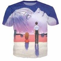 Ende evangelion t-shirt frauen männer mode clothing 3d t-shirt sommer t beiläufiges hemd outfits tops 5xl