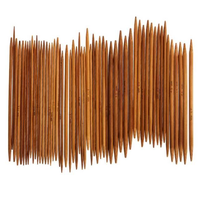 55 шт. 11 размеров 13 см Bamboo Вязание Вышивка крестом иглы вязаный крючком Крючки двойной острым газированные свитер Ткань Ремесло